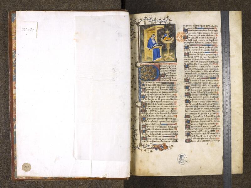 CHANTILLY, Bibliothèque du château, 0867 (0324), f. 000Av - 000B avec réglet