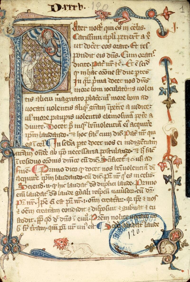 Charleville-Mézières, Bibl. mun., ms. 0120, f. 001 - vue 1
