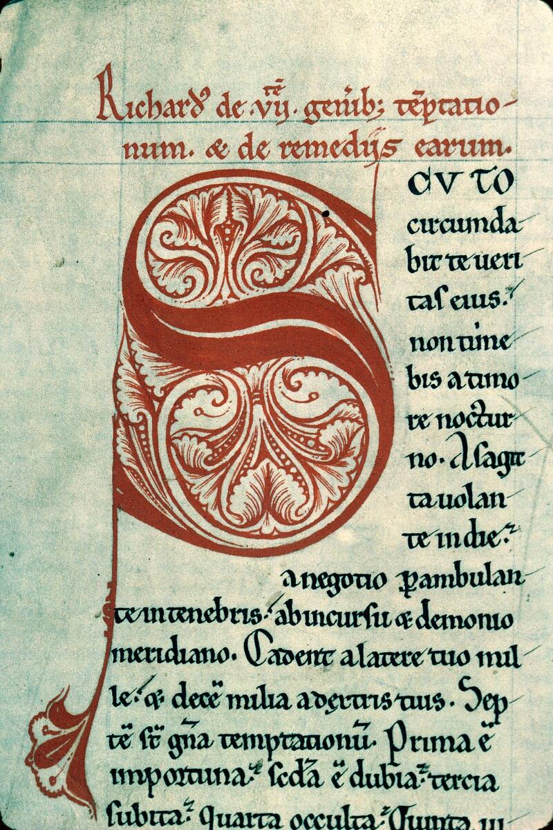 Charleville-Mézières, Bibl. mun., ms. 0184, f. 001v - vue 2
