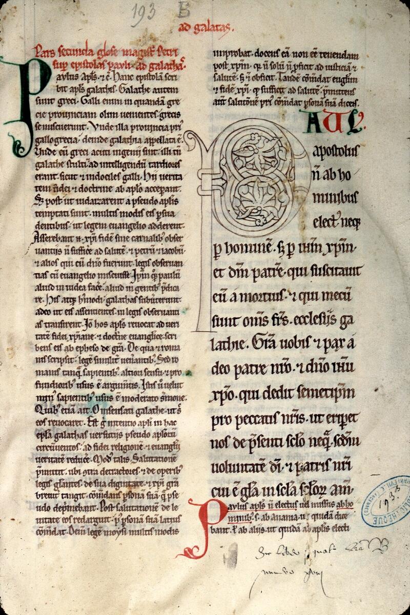 Charleville-Mézières, Bibl. mun., ms. 0193 B, f. 001