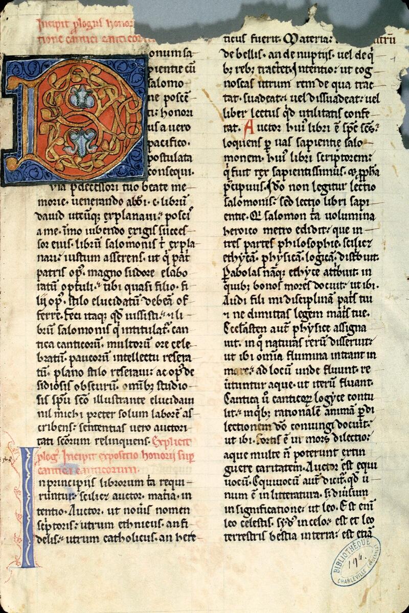 Charleville-Mézières, Bibl. mun., ms. 0194, f. 001