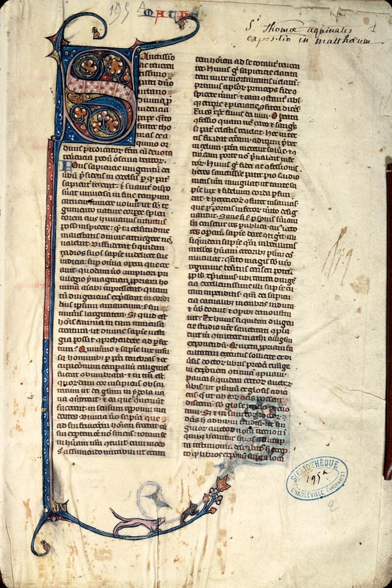 Charleville-Mézières, Bibl. mun., ms. 0195 A, t. II, f. 001