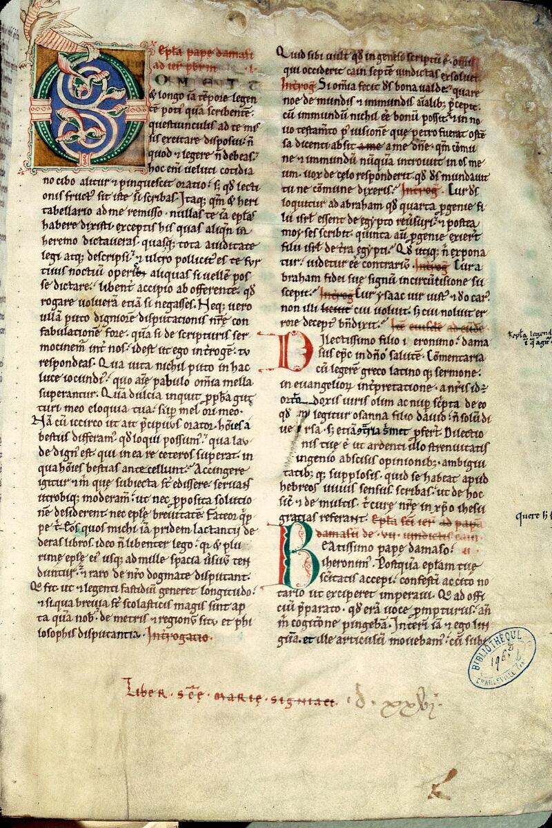 Charleville-Mézières, Bibl. mun., ms. 0196 D, t. I, f. 002 - vue 1