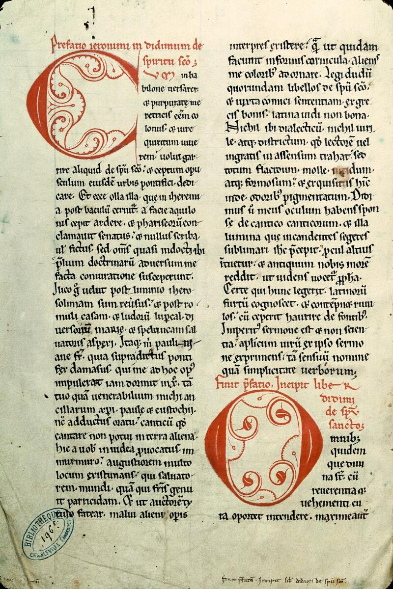 Charleville-Mézières, Bibl. mun., ms. 0196 E, f. 001v