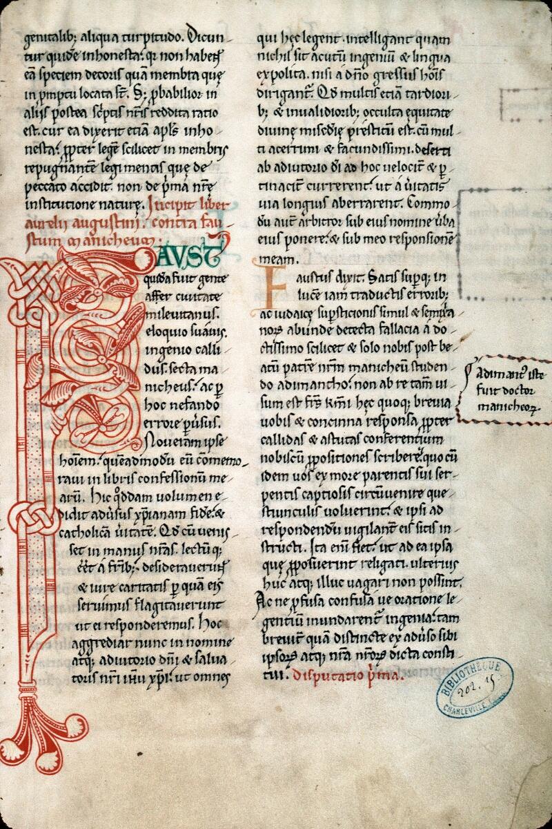Charleville-Mézières, Bibl. mun., ms. 0202, t. XV, f. 002