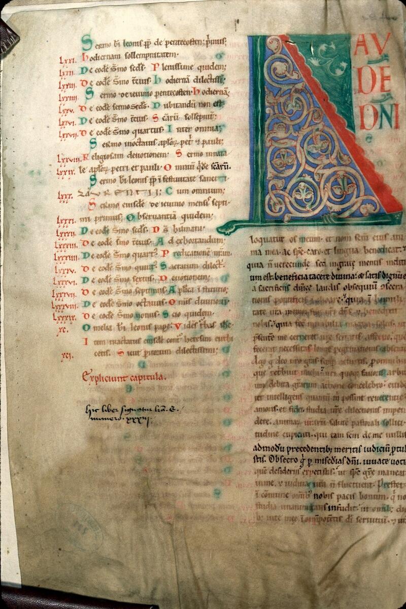Charleville-Mézières, Bibl. mun., ms. 0223, f. 001v - vue 1