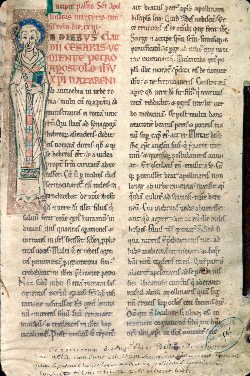Charleville-Mézières, Bibl. mun., ms. 0254, t. I, f. 001 - vue 1
