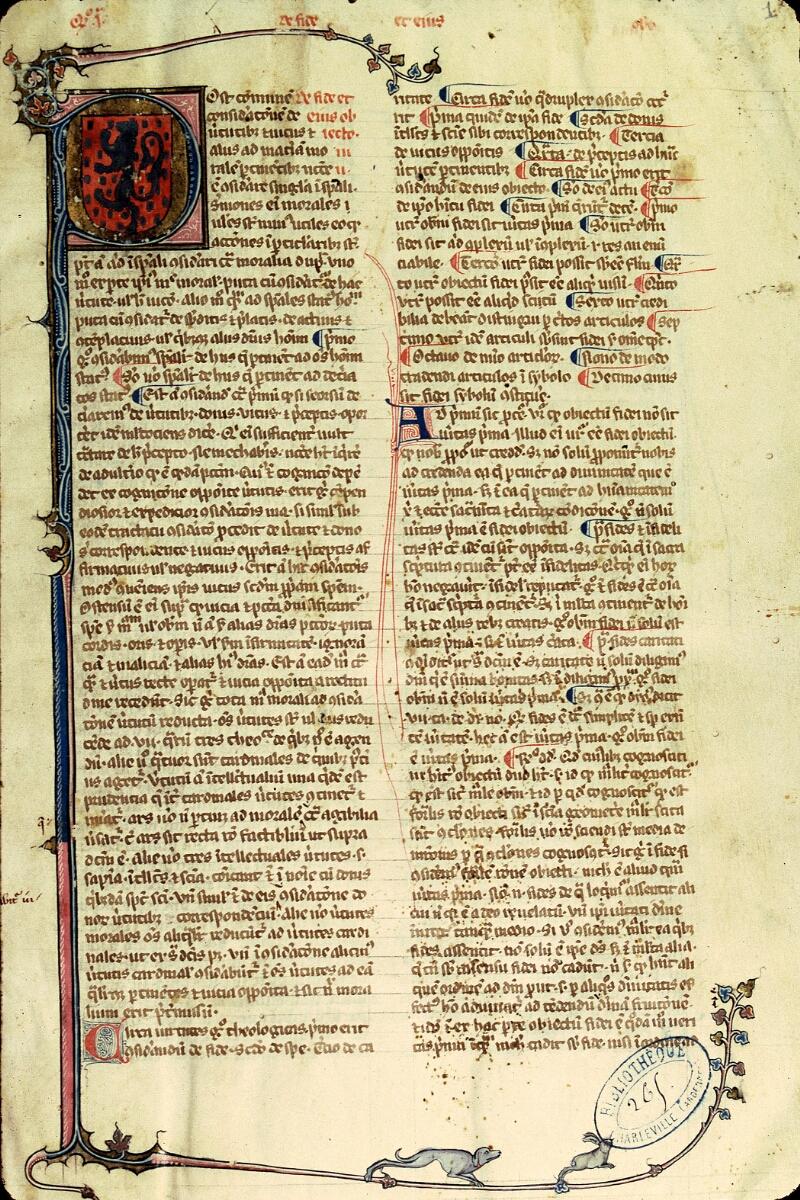 Charleville-Mézières, Bibl. mun., ms. 0265, f. 001 - vue 1