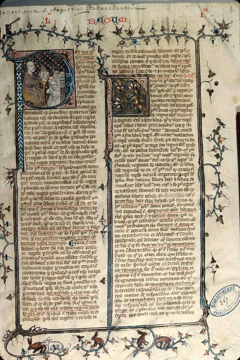 Charleville-Mézières, Bibl. mun., ms. 0267, t. III, f. 001 - vue 1