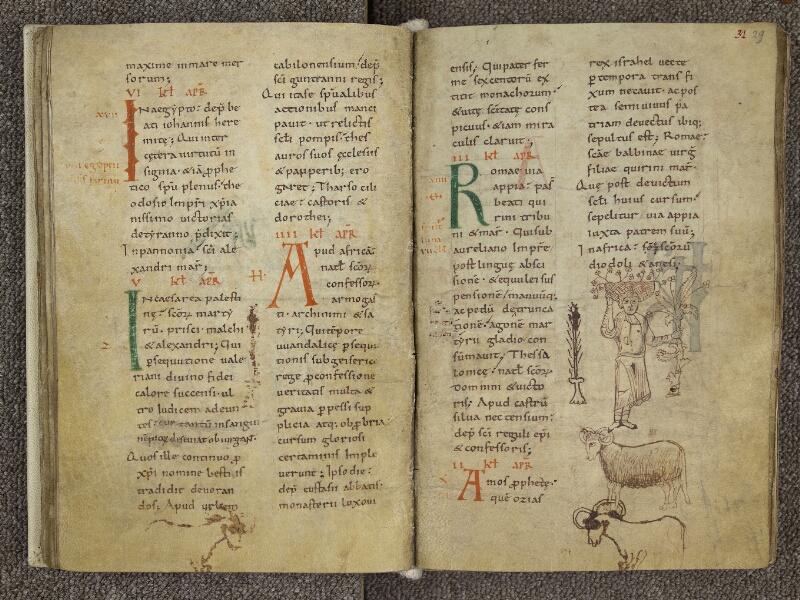 CHARTRES, Bibliothèque municipale, nouv. acq. 004, f. 030v - 031