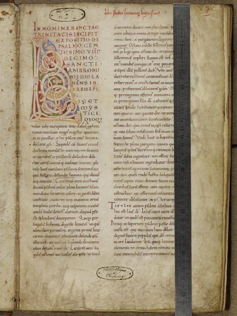 Cherbourg, Bibl. mun., ms. 0002, f. 001 - vue 1