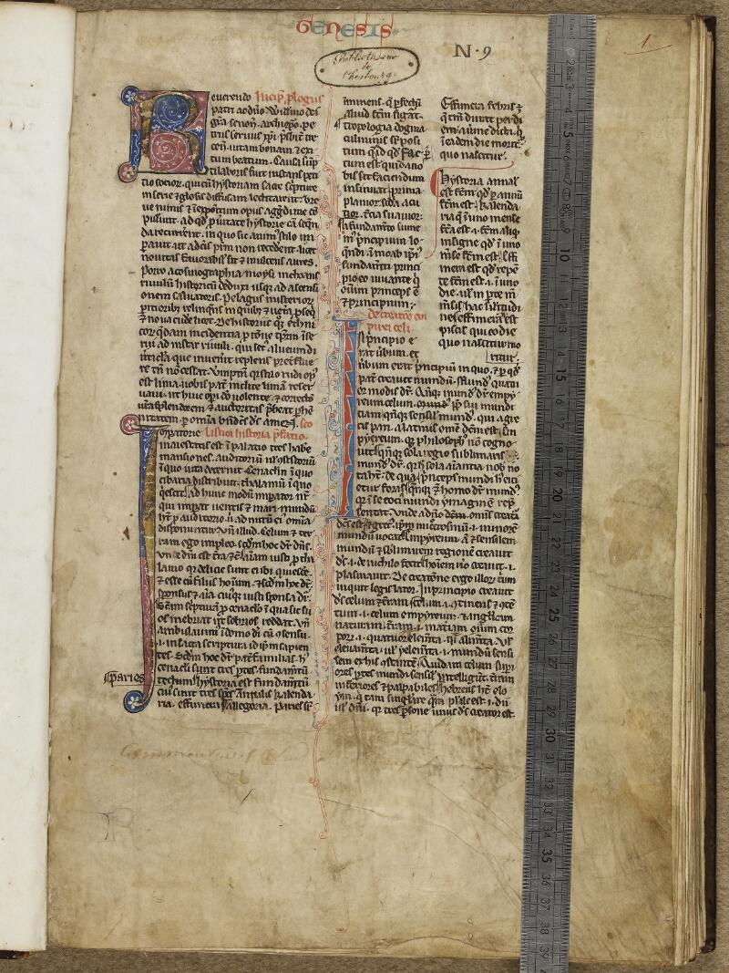 Cherbourg, Bibl. mun., ms. 0004, f. 001 - vue 1