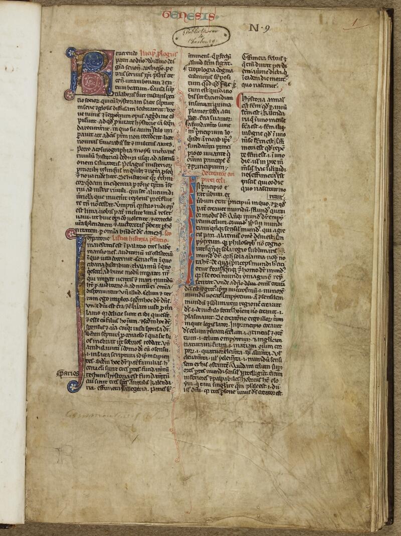 Cherbourg, Bibl. mun., ms. 0004, f. 001 - vue 2