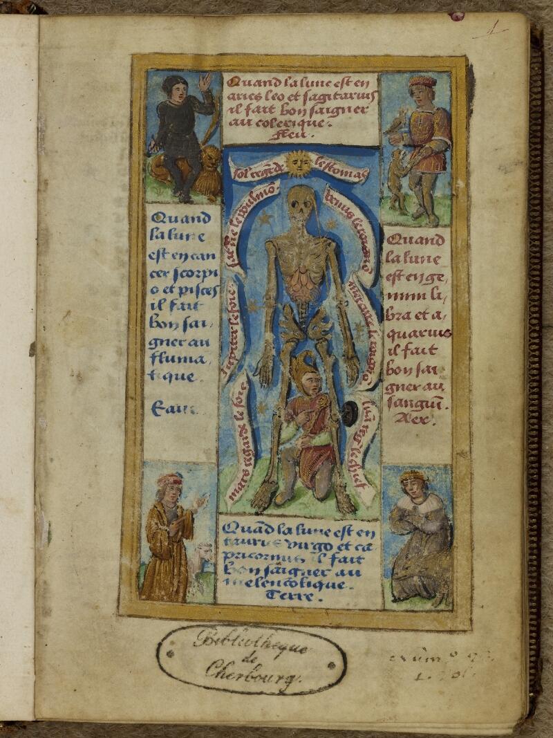 Cherbourg, Bibl. mun., ms. 0006, f. 001 - vue 2