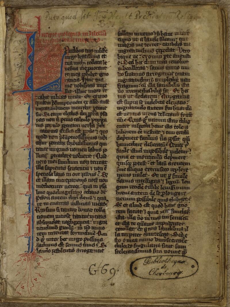 Cherbourg, Bibl. mun., ms. 0014, f. 002 - vue 2