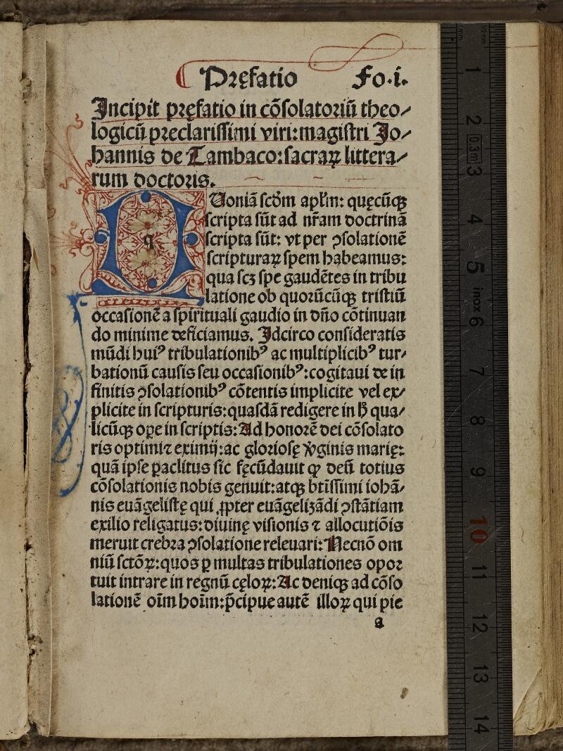 Colmar, Bibl. mun., inc. IV 8014, A f. 001 - vue 1