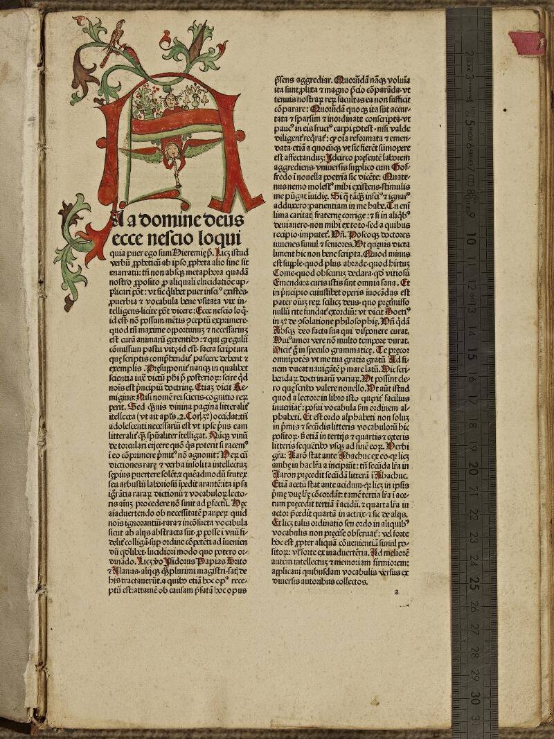 Colmar, Bibl. mun., inc. IV 8084, f. a1 - vue 1