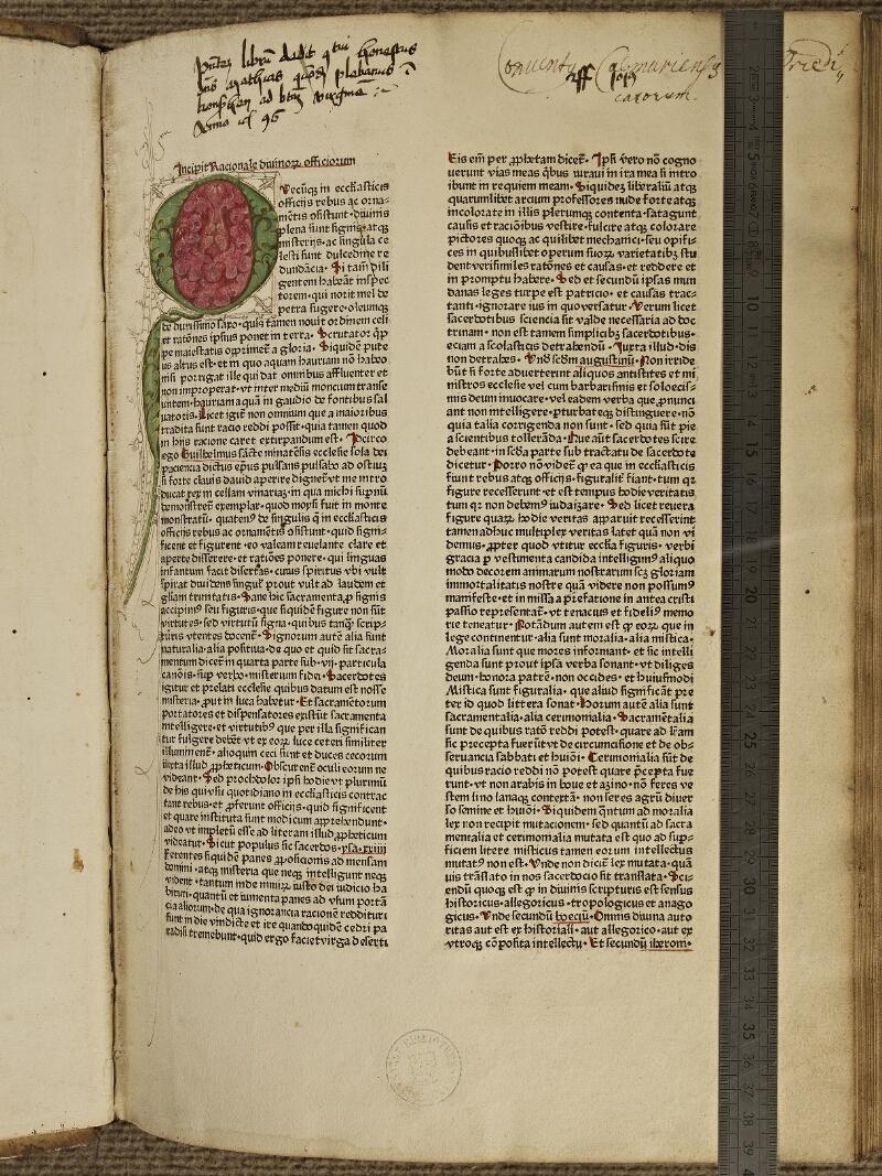 Colmar, Bibl. mun., inc. IV 8611, A f. 001 - vue 1