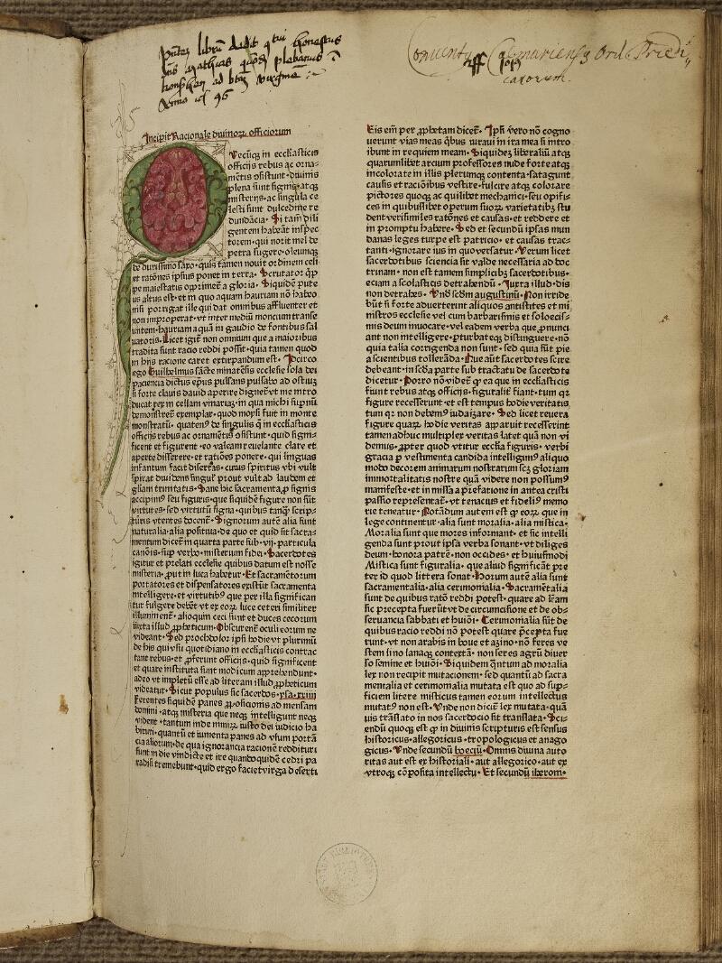 Colmar, Bibl. mun., inc. IV 8611, A f. 001 - vue 2