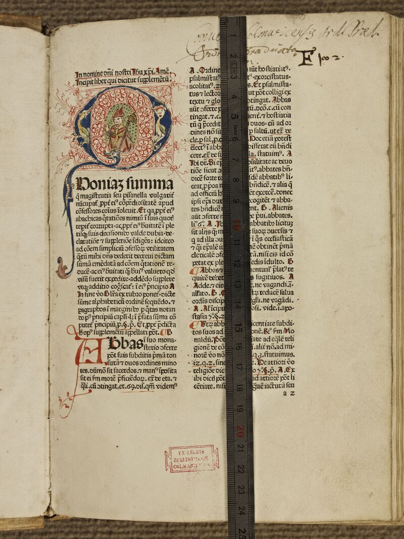 Colmar, Bibl. mun., inc. IV 8659, f. 0a2 - vue 1