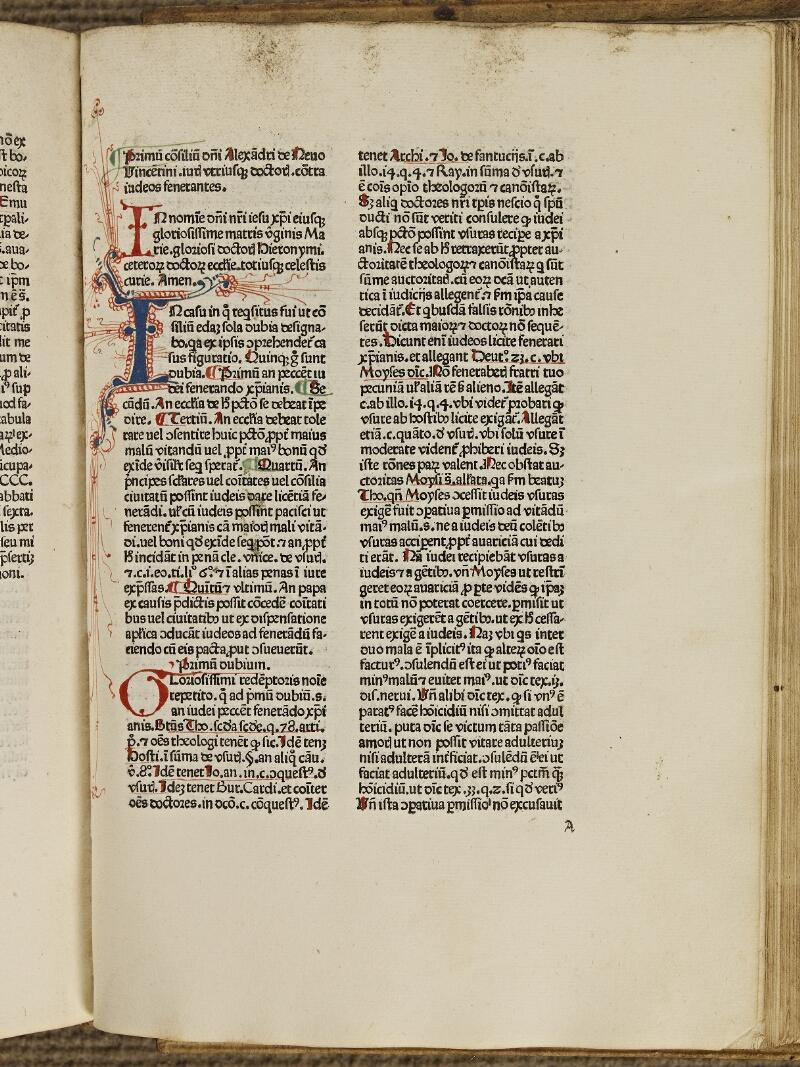 Colmar, Bibl. mun., inc. IV 8659, f. A1