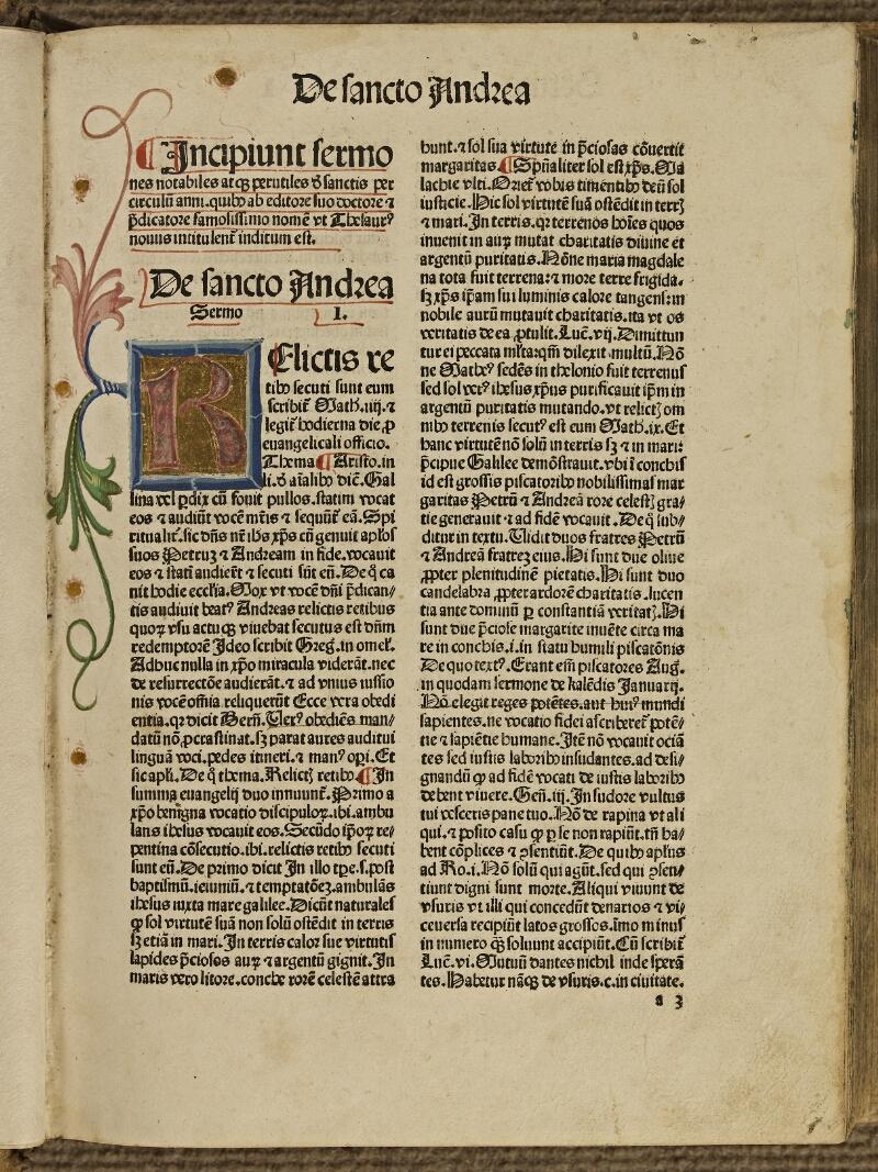 Colmar, Bibl. mun., inc. IV 8784, f. a3 - vue 2