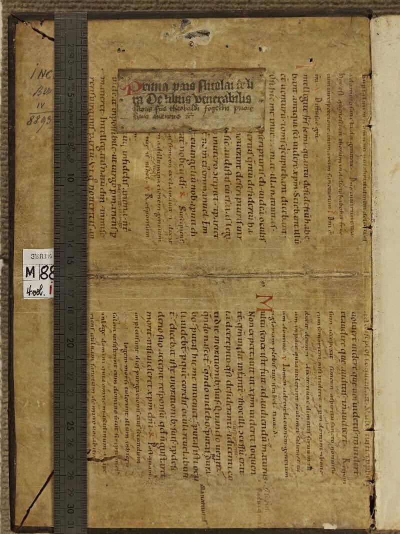Colmar, Bibl. mun., inc. IV 8893, t. 1, contre-plat sup. - vue 1