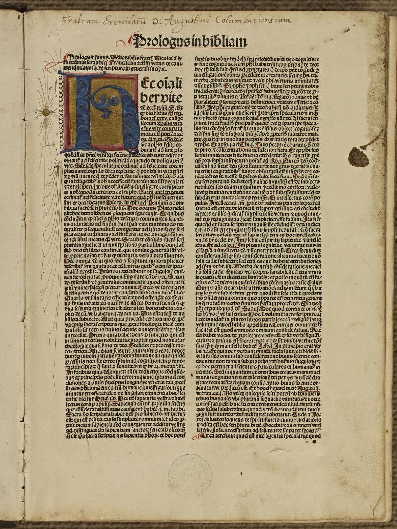 Colmar, Bibl. mun., inc. IV 8893, t. 1, f. 0a1 - vue 2