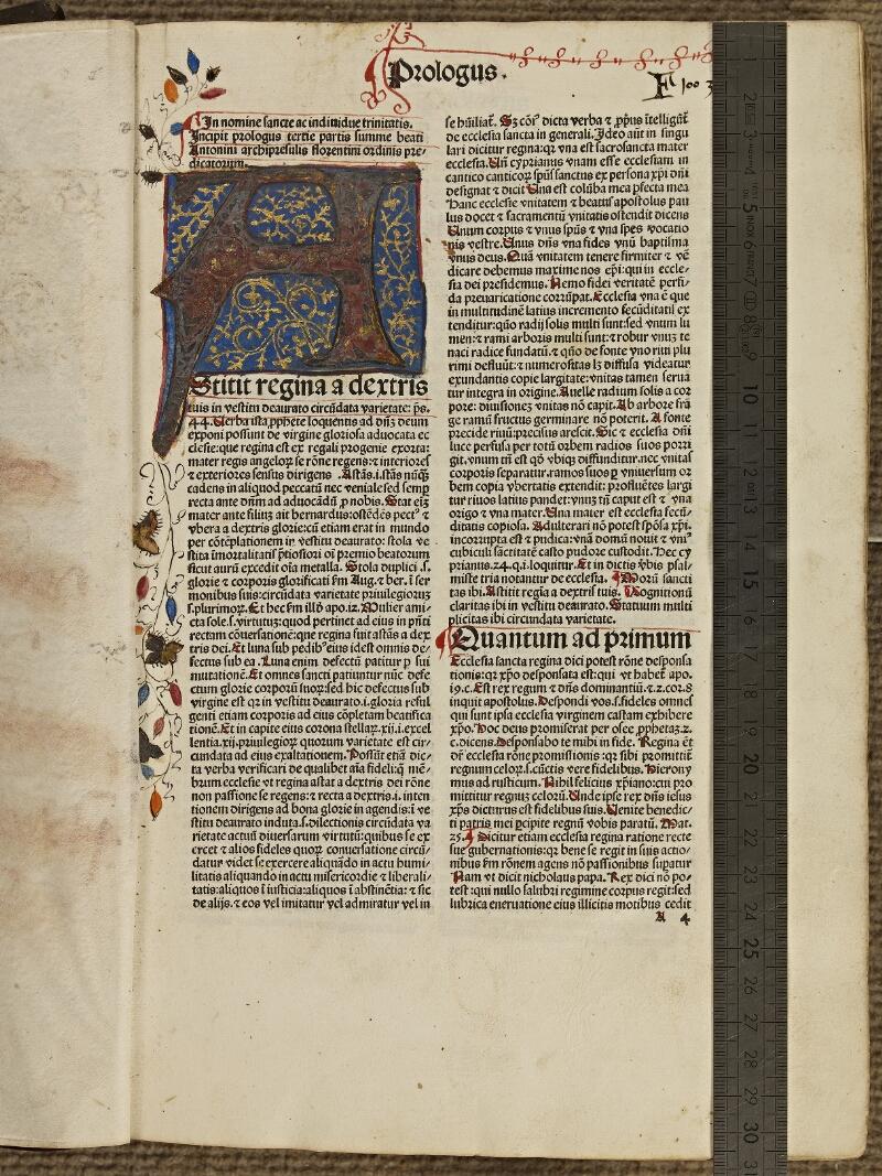 Colmar, Bibl. mun., inc. XIII-A 05, f. A4 - vue 1