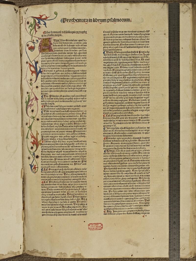 Colmar, Bibl. mun., inc. XIII-A 14, t. 3, f. 001 - vue 1