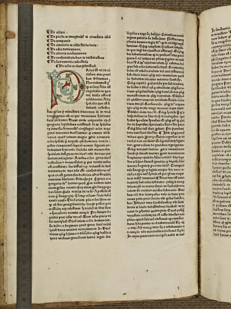 Colmar, Bibl. mun., inc. G 0274, f. 001v - vue 1