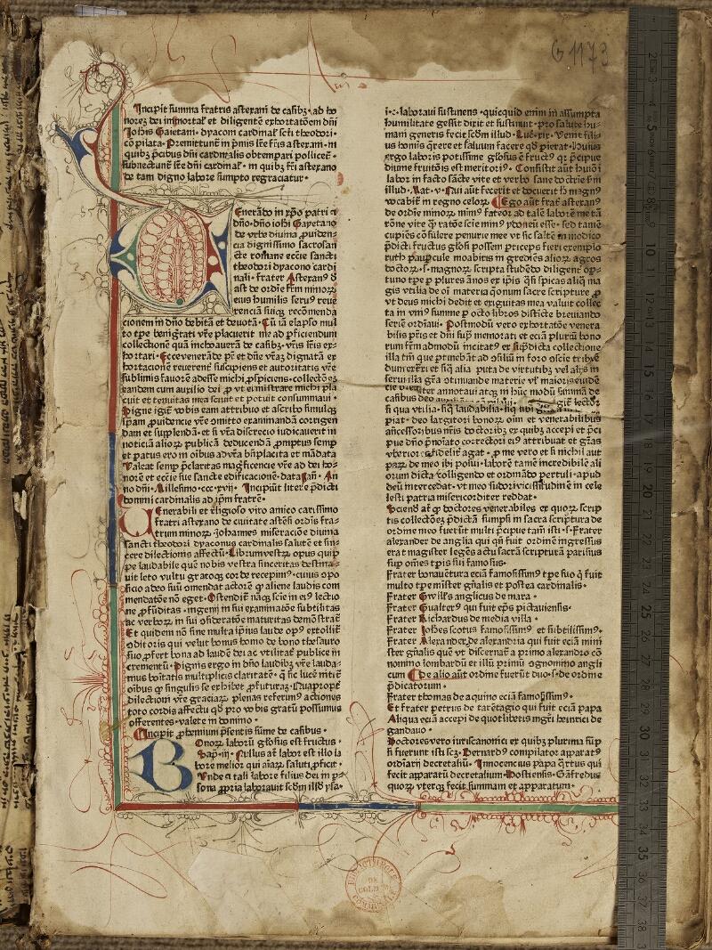 Colmar, Bibl. mun., inc. G 1173,  - vue 1