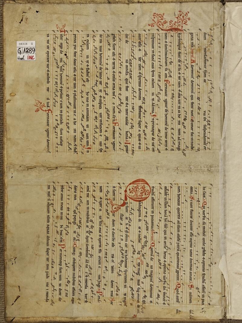 Colmar, Bibl. mun., inc. G 1289, t. 1, contre-plat sup. - vue 2