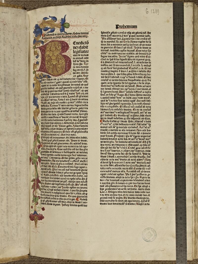 Colmar, Bibl. mun., inc. G 1289, t. 4, f. 001 - vue 1
