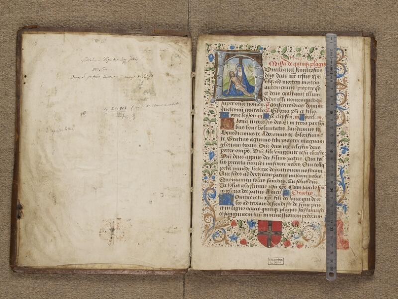 DIEPPE, Bibliothèque Municipale, 182, garde verso - f. 001 (avec réglet)