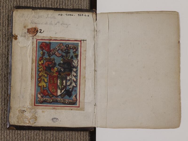DIEPPE, Château-Musée, Inv. 0978.4.4, contreplat garde - garde recto