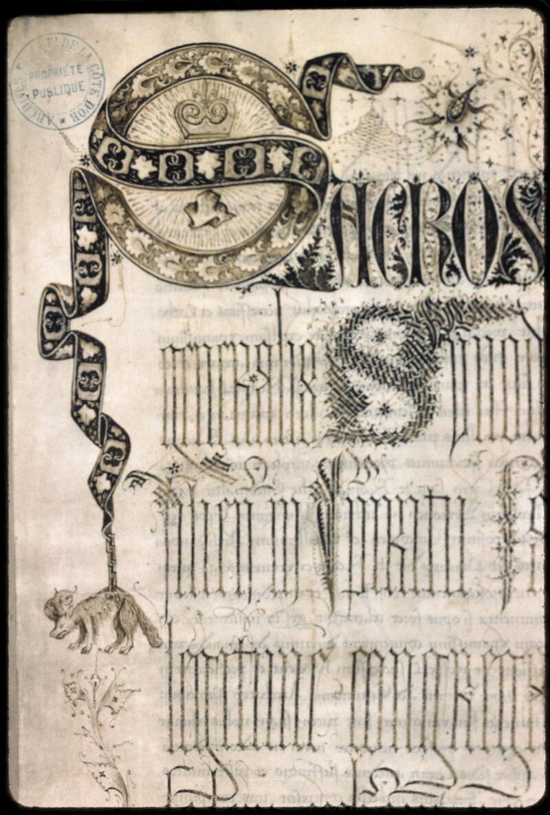 Dijon, Arch. dép., B 11616, f. 001 - vue 2