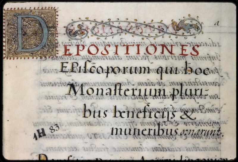 Dijon, Arch. dep., H(001) 00083, f. a