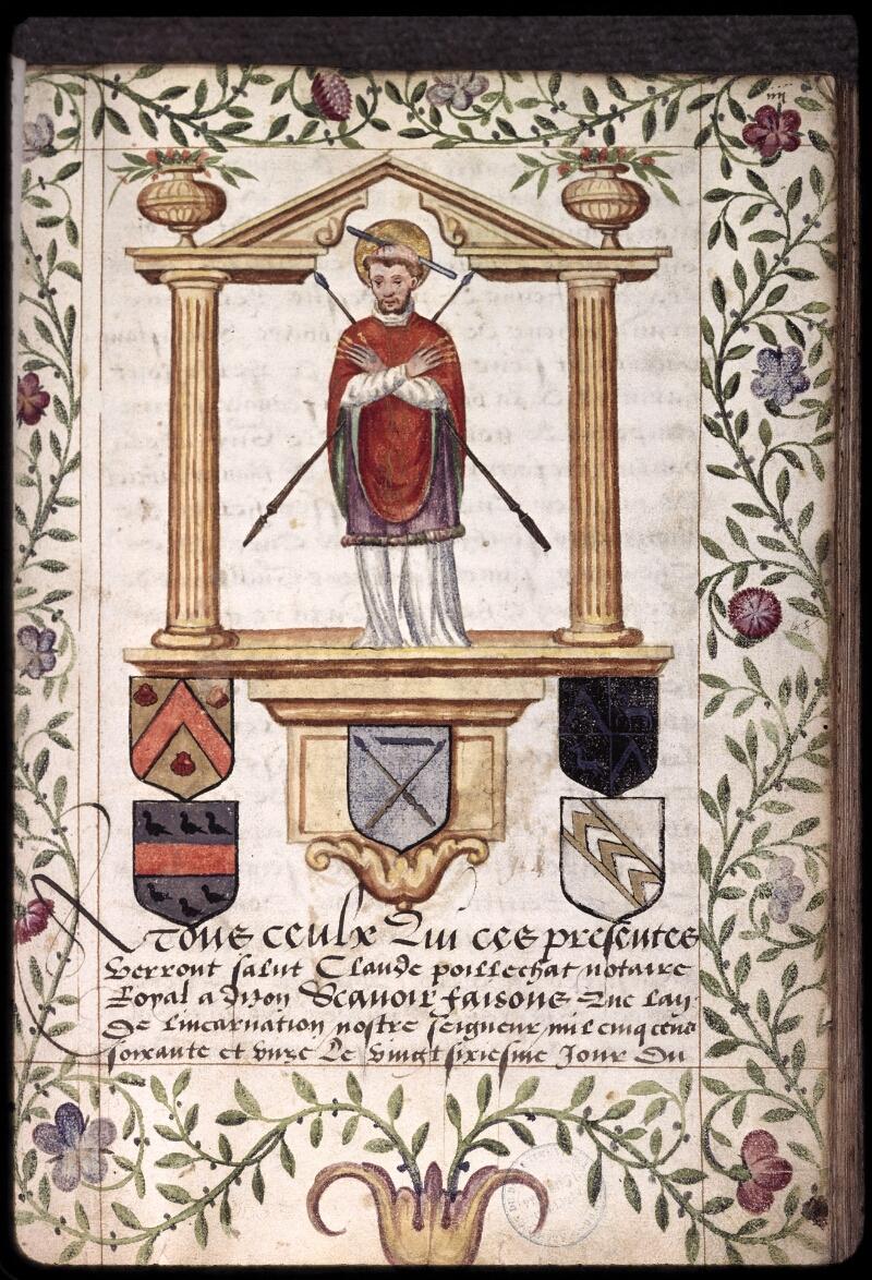 Dijon, Arch. dép., H (001) 01043, f. 004 - vue 1