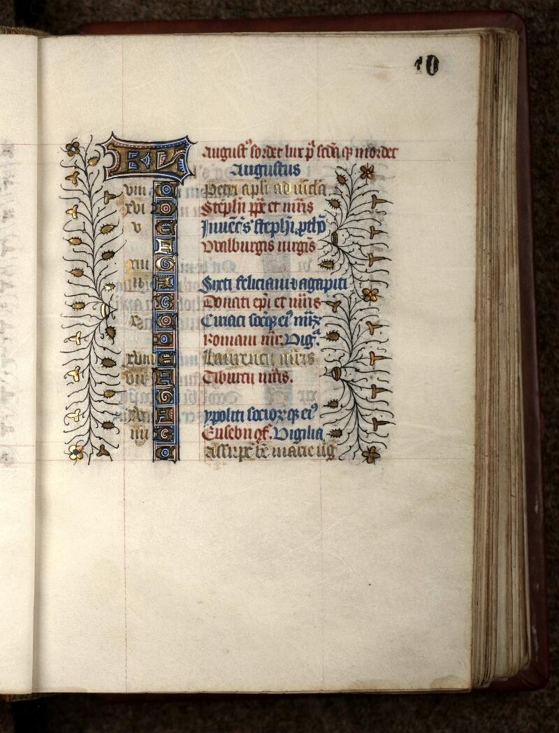 Douai, Bibliothèque municipale, ms. 0188, f. 010 - vue 2