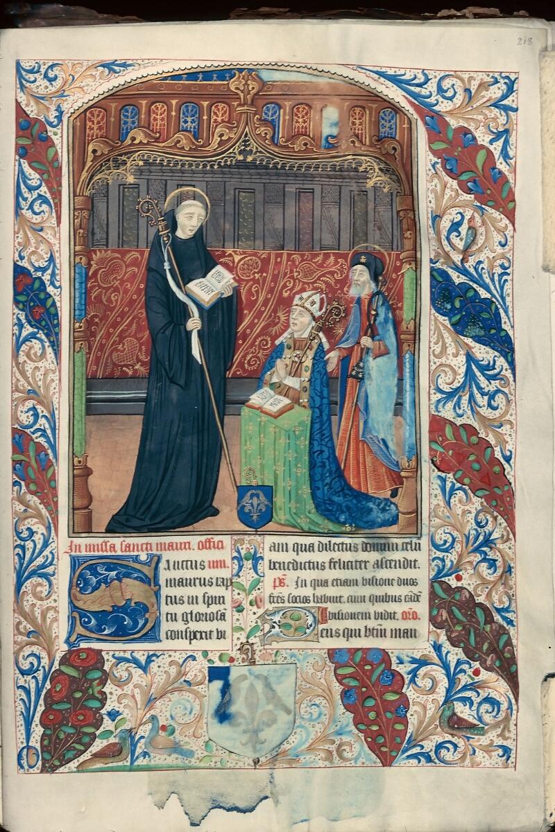 Evreux, Bibl. mun., ms. lat. 099, f. 218 - vue 1