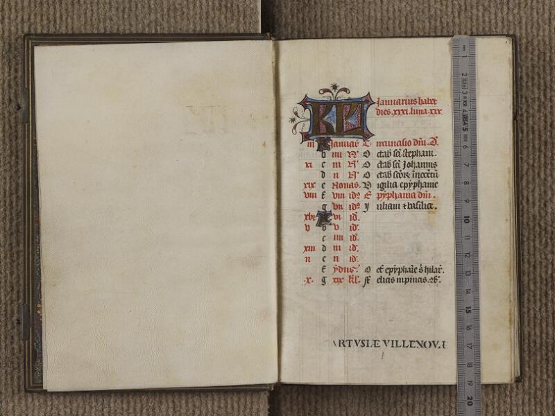 FECAMP, Musée du Palais Bénédictine, A.10.007, garde verso - f. 001 (avec réglet)