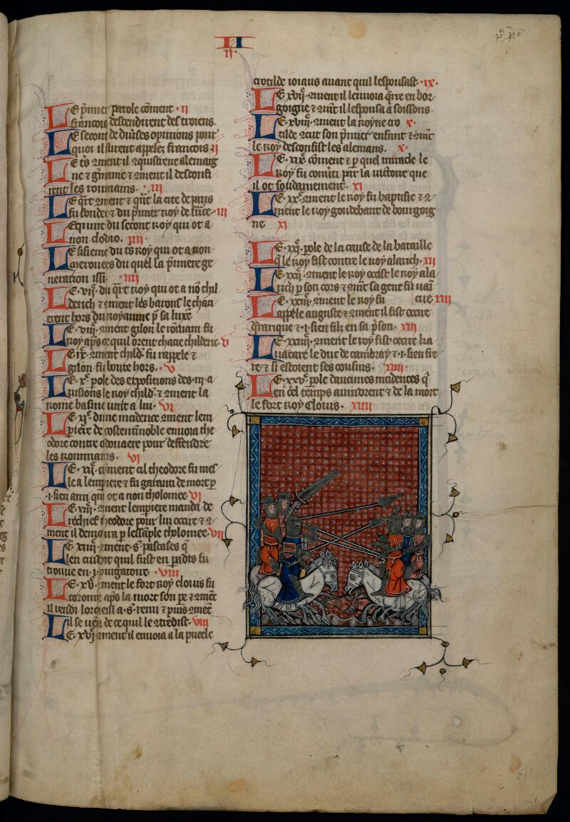 GRENOBLE, Bibliothèque municipale, 1004 (MS.0407), f. 002 foliotation en chiffre romain