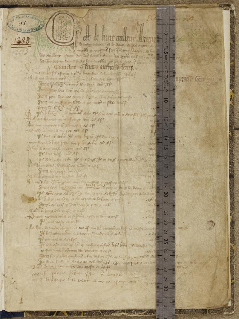 Lisieux, Bibl. mun., ms. 0011, f. 001 - vue 1