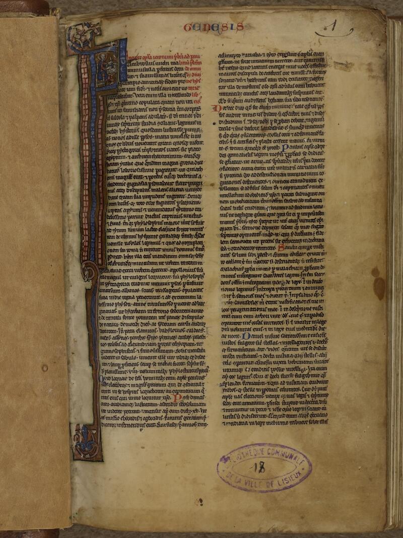Lisieux, Bibl. mun., ms. 0018, p. 001 - vue 2