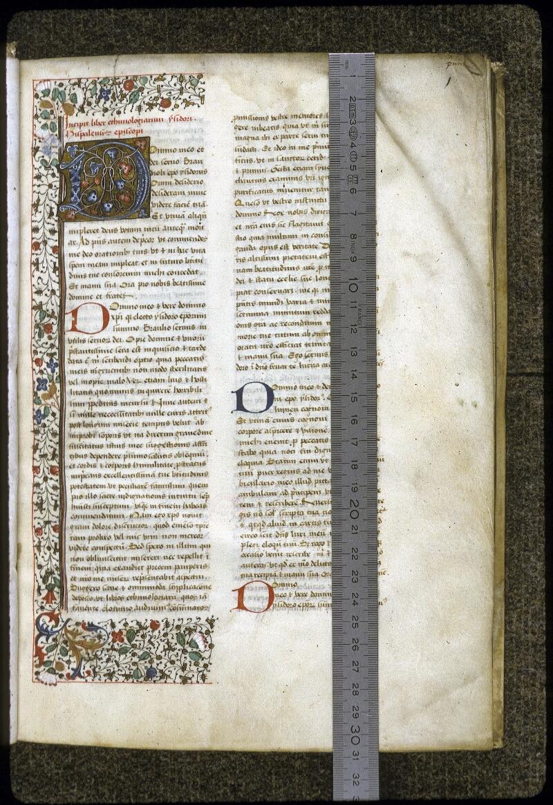 Lyon, Bibl. mun., ms. 0125, f. 001 - vue 1
