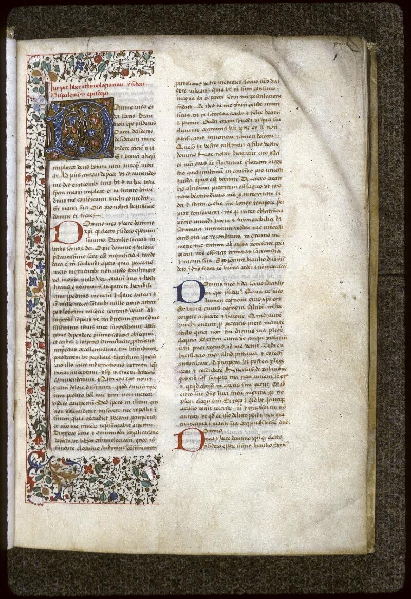 Lyon, Bibl. mun., ms. 0125, f. 001 - vue 2