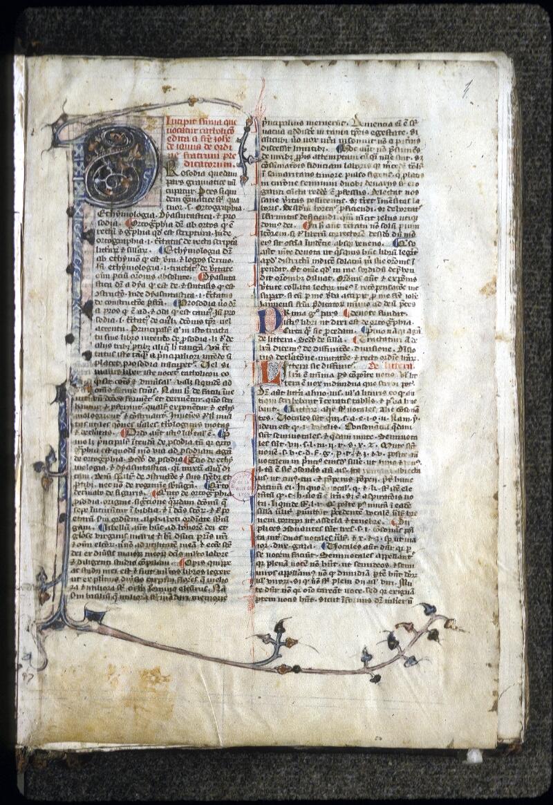 Lyon, Bibl. mun., ms. 0126, f. 001 - vue 2