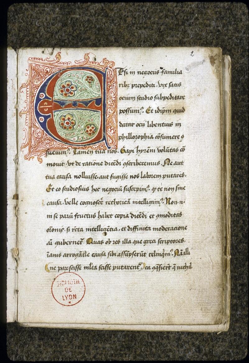 Lyon, Bibl. mun., ms. 0128, f. 002 - vue 2