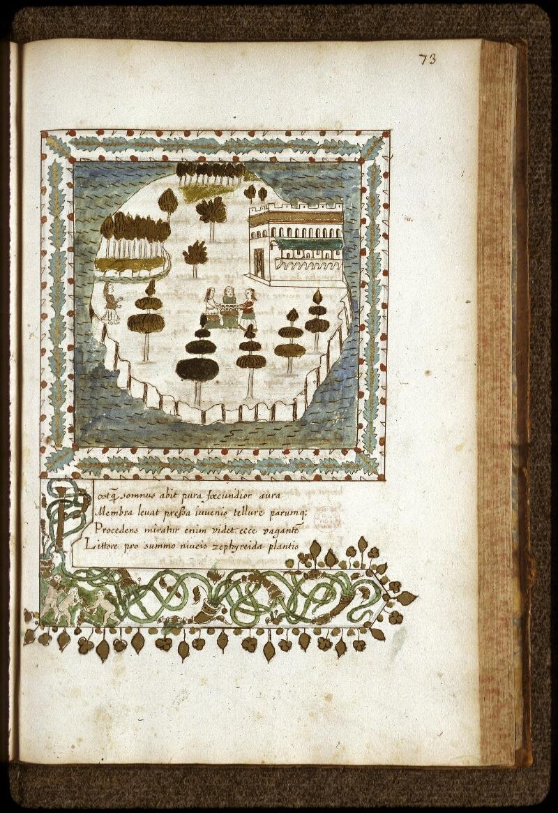 Lyon, Bibl. mun., ms. 0154, f. 073 - vue 1